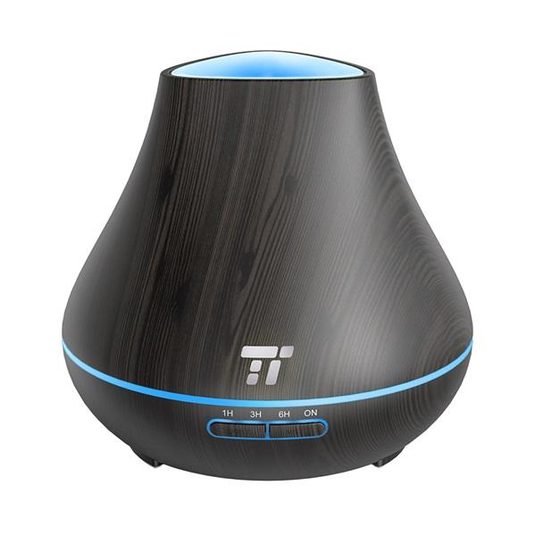 Taotronics TT-AD004 sötétbarna fa mintázatú ultrahangos illóolaj párásító LED fénnyel - 7