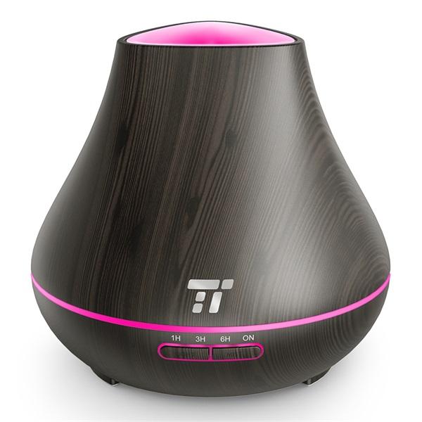 Taotronics TT-AD004 sötétbarna fa mintázatú ultrahangos illóolaj párásító LED fénnyel - 8