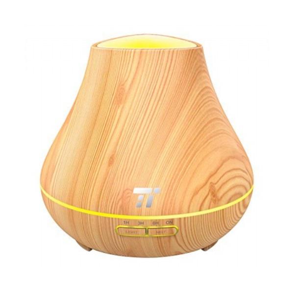 Taotronics TT-AD004 világosbarna fa mintázatú ultrahangos illóolaj párásító LED fénnyel - 1