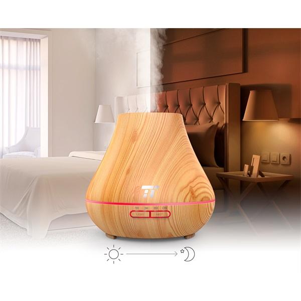 Taotronics TT-AD004 világosbarna fa mintázatú ultrahangos illóolaj párásító LED fénnyel - 3