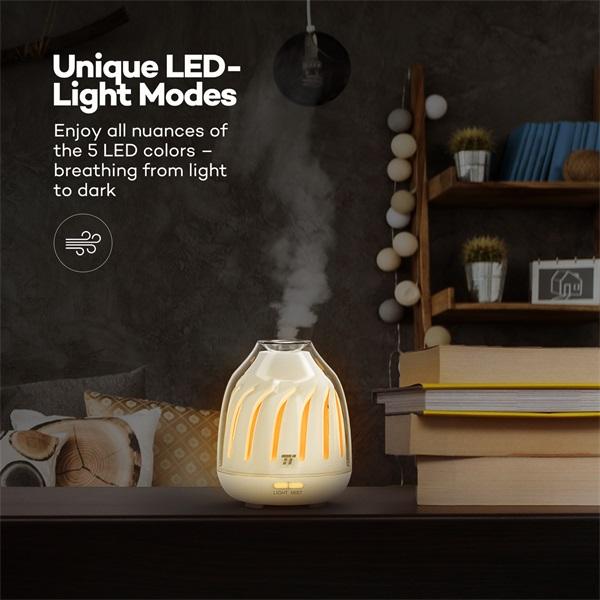 Taotronics TT-AD007 fehér ultrahangos LED fénnyel illóolaj párásító - 6