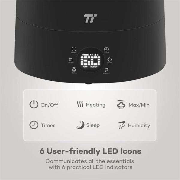 Taotronics TT-AH007 fekete ultrahangos párásító - 4