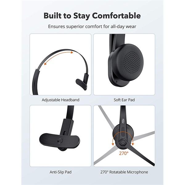 TaoTronics TT-BH041 Bluetooth zajszűrős vezeték nélküli headset - 3