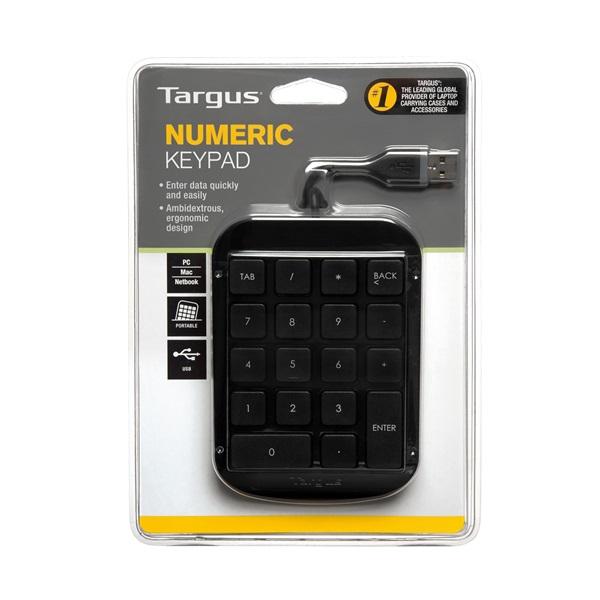 Targus AKP10EU Numeric Keypad USB fekete vezetékes numerikus billentyűzet - 4