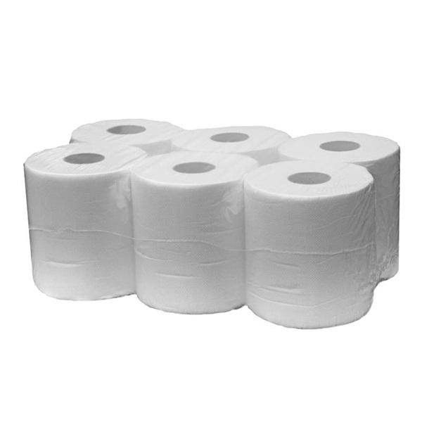 Tekercses kéztörlő 19cm 2 rétegű fehér 6 tek/csomag - 1