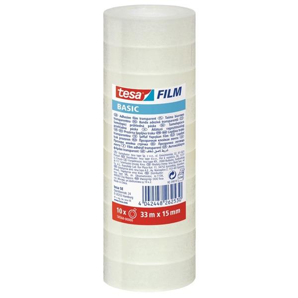 Tesa Basic 33mx15mm 10db/csomag átlátszó ragasztószalag - 1