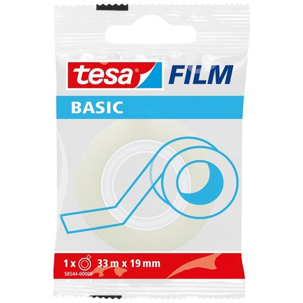 Tesa Basic 33mx19mm 1db átlátszó írható ragasztószalag - 1