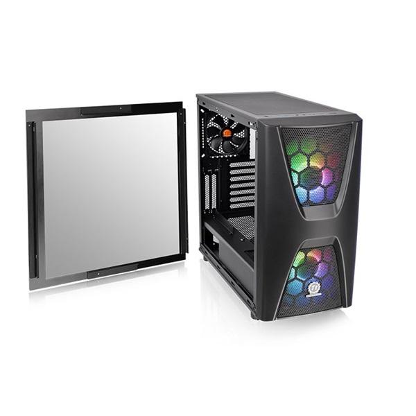 Thermaltake Commander C34 TG ARGB Fekete ablakos (Táp nélküli) ATX ház - 5