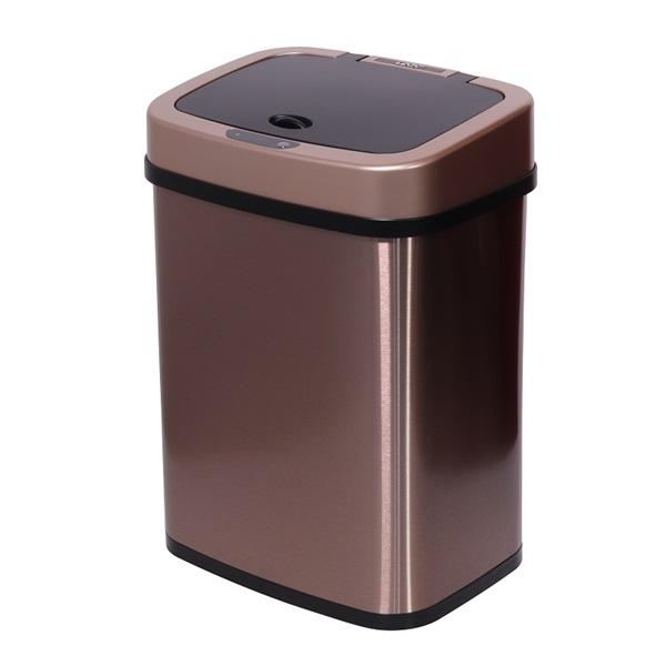 TOO 12 literes bronzarany rozsdamentes acél szenzoros szemetes - 1