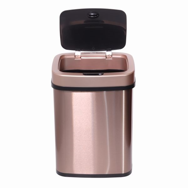 TOO 12 literes bronzarany rozsdamentes acél szenzoros szemetes - 3
