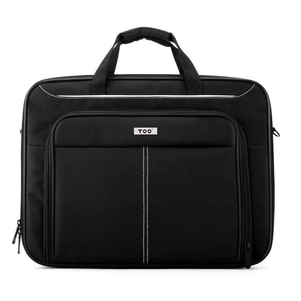 TOO 15,6 fekete notebook táska fehér dekor csíkkal - 1