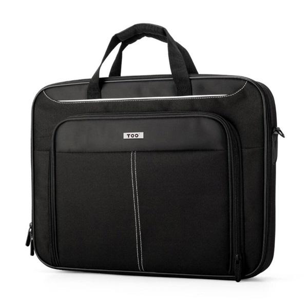 TOO 15,6 fekete notebook táska fehér dekor csíkkal - 2