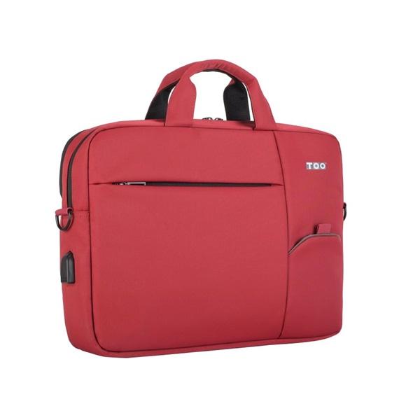 TOO 15,6 USB portos piros notebook táska - 1