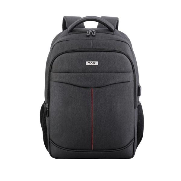 TOO 15,6 USB portos szürke hátizsák - 1