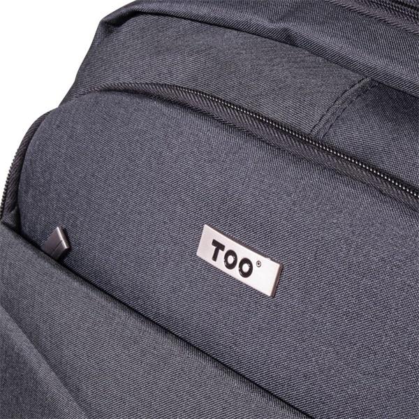 TOO 15,6 USB portos szürke hátizsák - 2