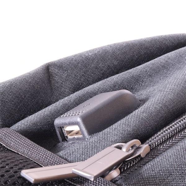 TOO 15,6 USB portos szürke hátizsák - 3