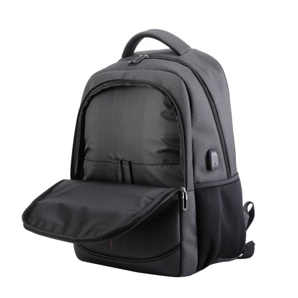 TOO 15,6 USB portos szürke hátizsák - 5