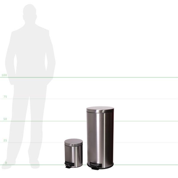 TOO 30 és 5 literes rozsdamentes acél pedálos szemetes szett - 2