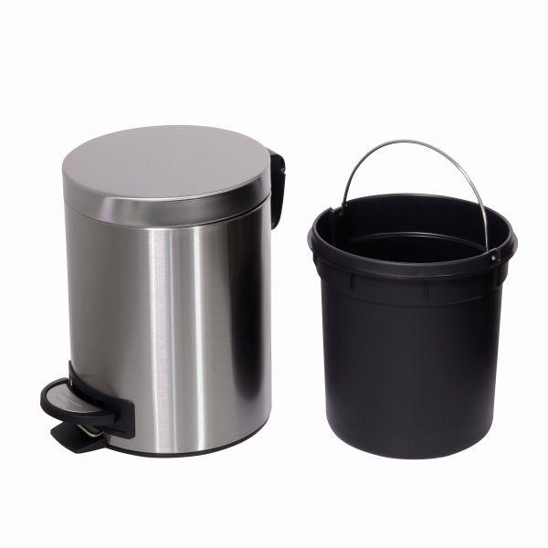 TOO 30 és 5 literes rozsdamentes acél pedálos szemetes szett - 4