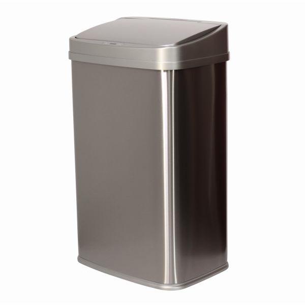 TOO 50 literes rozsdamentes acél szenzoros szemetes - szürke fedővel - 1