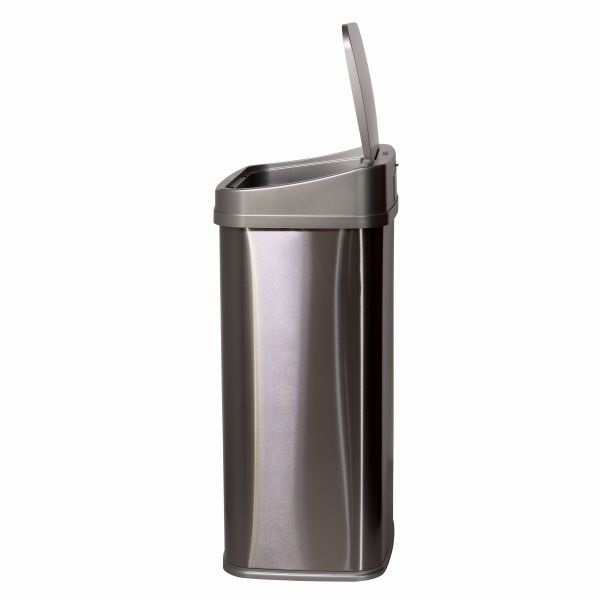 TOO 50 literes rozsdamentes acél szenzoros szemetes - szürke fedővel - 3