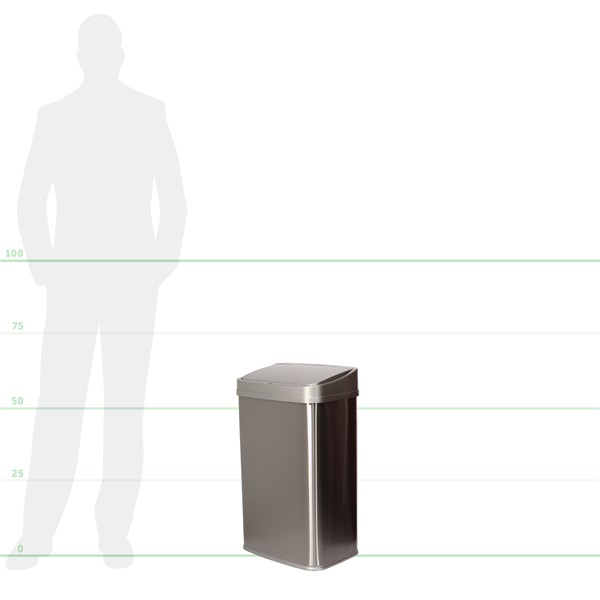 TOO 50 literes rozsdamentes acél szenzoros szemetes - szürke fedővel - 5
