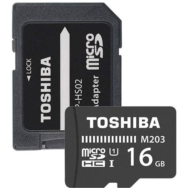Toshiba M203 16GB SD micro (SDXC Class 10 UHS-I U1) (THN-M203K0160EA) memória kártya adapterrel - 1