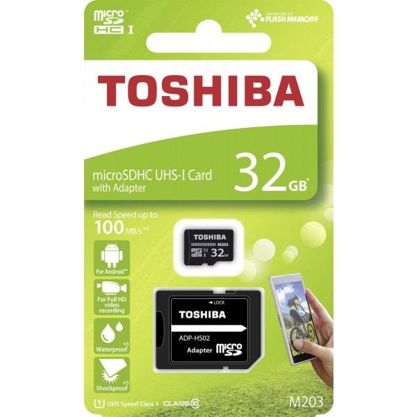 Toshiba M203 32GB SD micro (SDXC Class 10 UHS-I U1) (THN-M203K0320EA) memória kártya adapterrel - 2