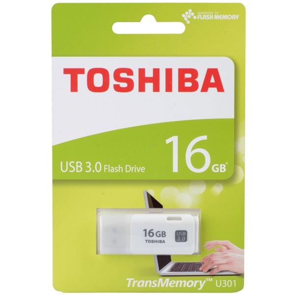 "Toshiba UT16GHW3 16GB USB3.0 Hayabusa"" fehér Flash Drive - 1"