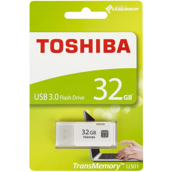 "Toshiba UT32GHW3 32GB USB3.0 Hayabusa"" fehér Flash Drive - 1"