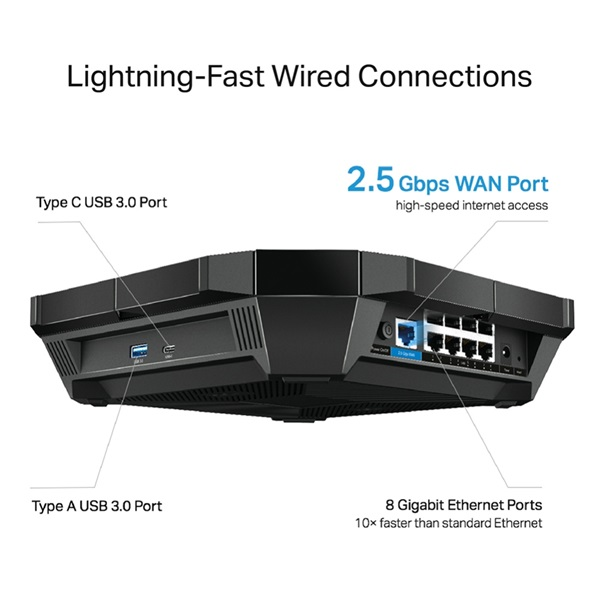 TP-Link Archer AX6000 AC6000 Wi-Fi 6 Dual-Band MU-MIMO Vezeték nélküli Gigabit Router - 4