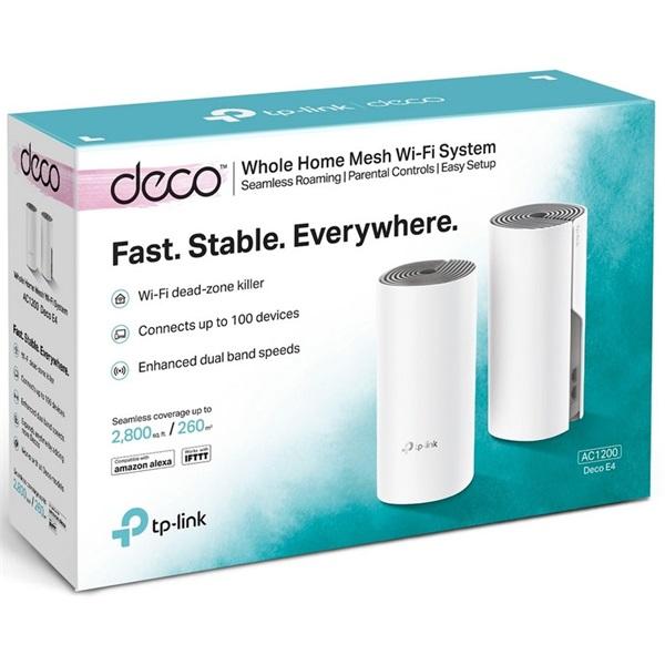 TP-Link DECO E4 AC1200 Whole-home Mesh Dual Band 802.11ac vezeték nélküli rendszer (2db-os) - 2