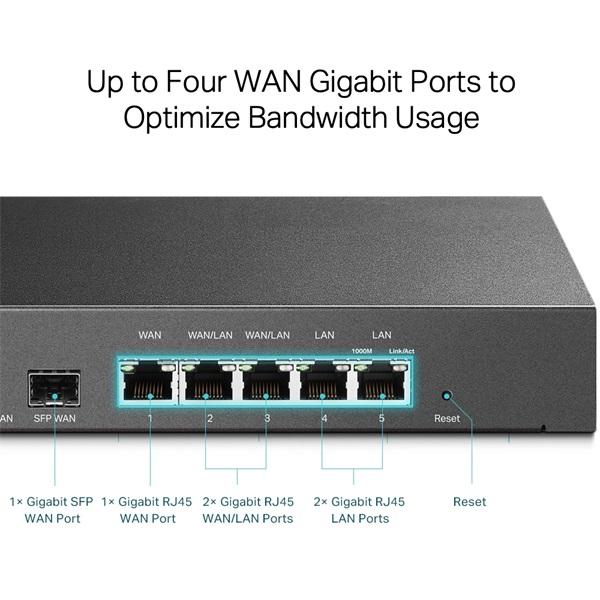 TP-LINK TL-ER7206 SafeStream™ Gigabit Multi-WAN VPN Router - 4