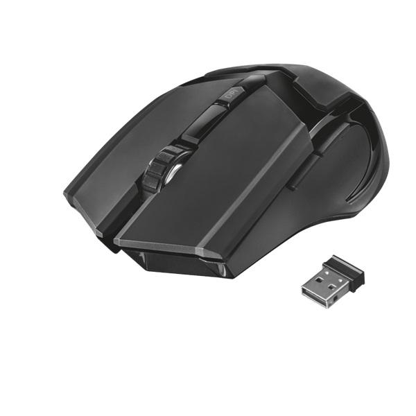 Trust GXT 103 Gav vezeték nélküli fekete gamer egér - 3