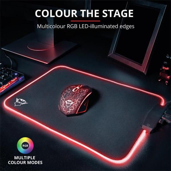 Trust GXT 765 Glide-Flex RGB világító fekete gamer egérpad - 1