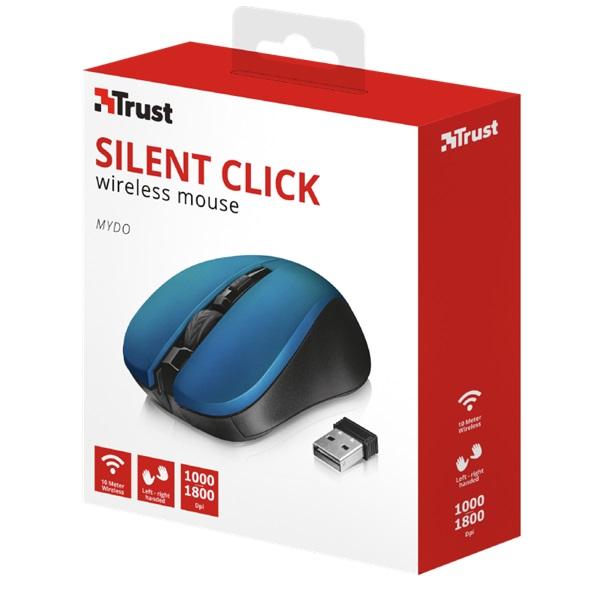 Trust Mydo Silent Click vezeték nélküli kék egér - 5
