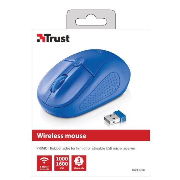 Trust Primo vezeték nélküli kék egér - 4