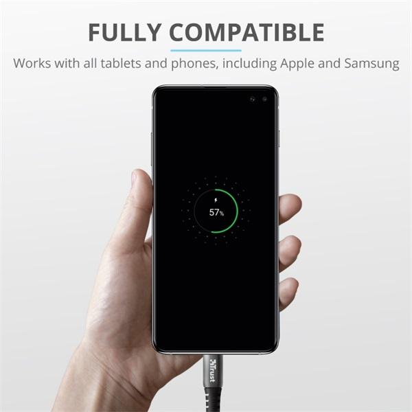 Trust Qmax Ultra-Fast Dual USB QC3 autós töltő okostelefonokhoz és tabletekhez 2 USB port 30W fekete - 3