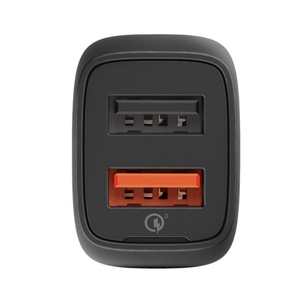 Trust Qmax Ultra-Fast Dual USB QC3 autós töltő okostelefonokhoz és tabletekhez 2 USB port 30W fekete - 4