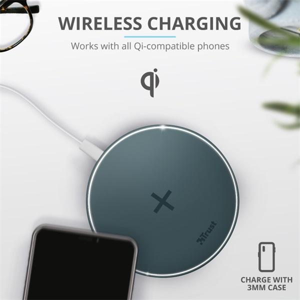 Trust Qylo Fast QI 7.5/10W wireless kék töltő - 2