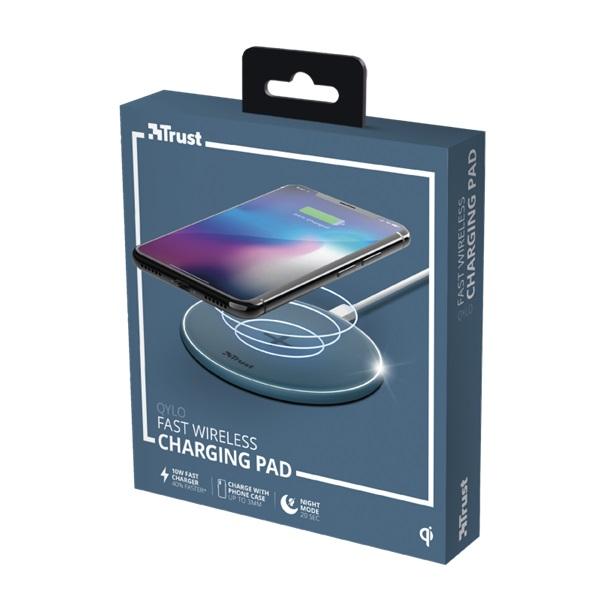 Trust Qylo Fast QI 7.5/10W wireless kék töltő - 6