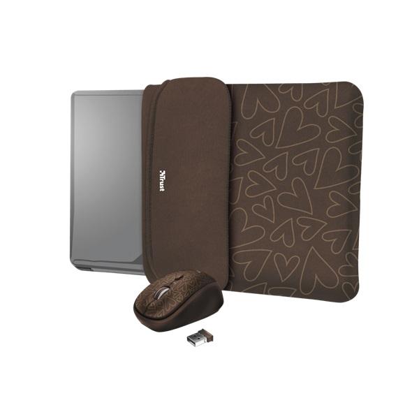 Trust Yvo barna 15,6 notebook tok + wireless egér - 1