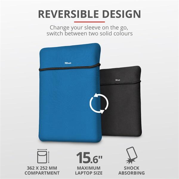 Trust Yvo kék 15,6 notebook tok + wireless egér - 2