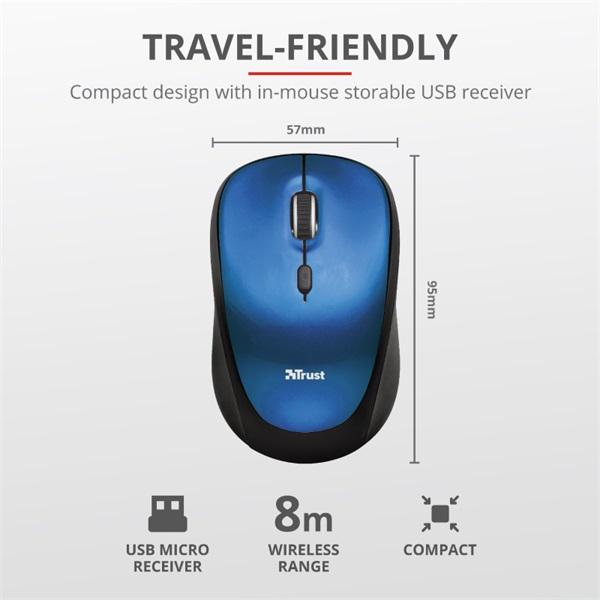 Trust Yvo kék 15,6 notebook tok + wireless egér - 4