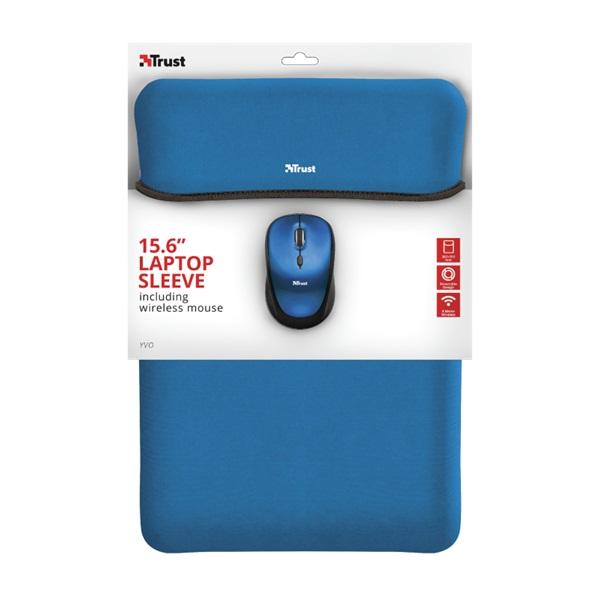 Trust Yvo kék 15,6 notebook tok + wireless egér - 5