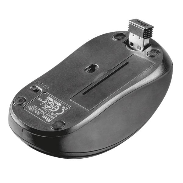 Trust Ziva Compact vezeték nélküli fekete egér - 3