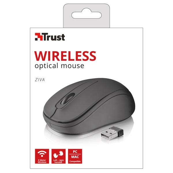 Trust Ziva Compact vezeték nélküli fekete egér - 5