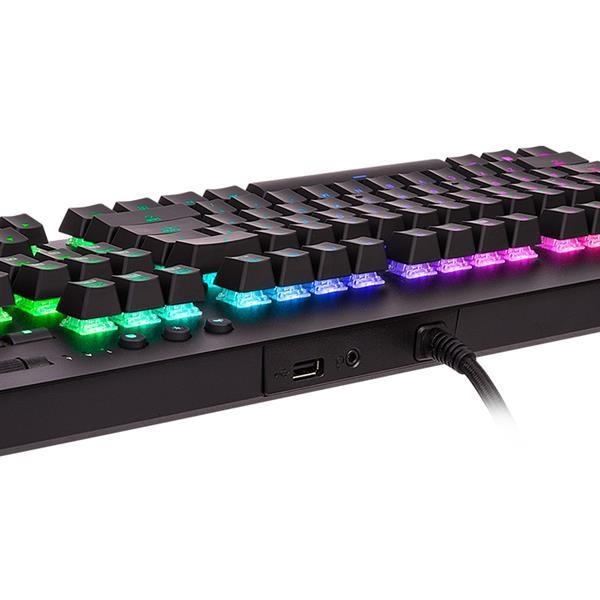 Ttesports Level 20 GT RGB (Cherry MX silver) US USB mechanikus gamer billentyűzet - 6