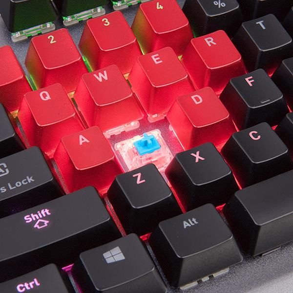 Ttesports Level 20 RGB Titanium (blue switch) US USB gamer billentyűzet - 5