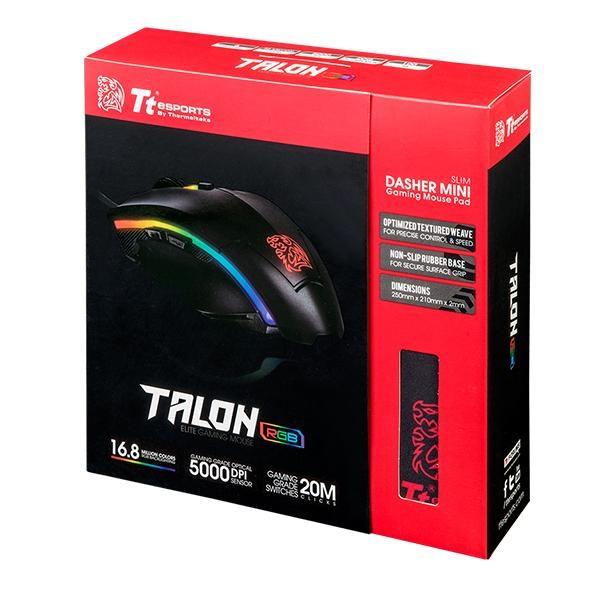 Ttesports Talon Elite USB fekete gamer egér + egérpad - 7